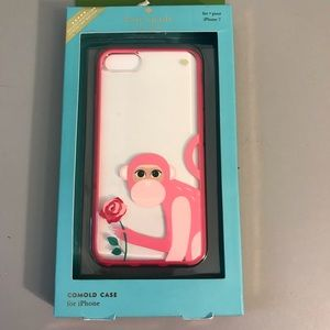 Kate Spade iPhone 7 case, monkey with rose, NIB